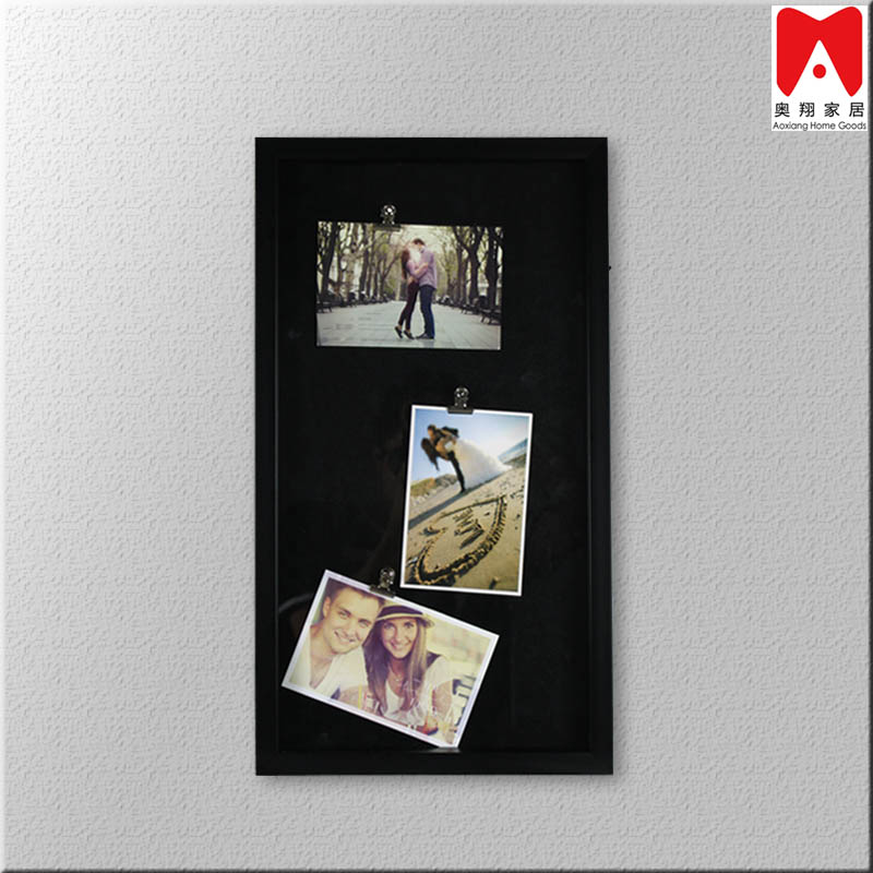 PS1080 Tripple Clips black cardboard backing black PS Picture Frame