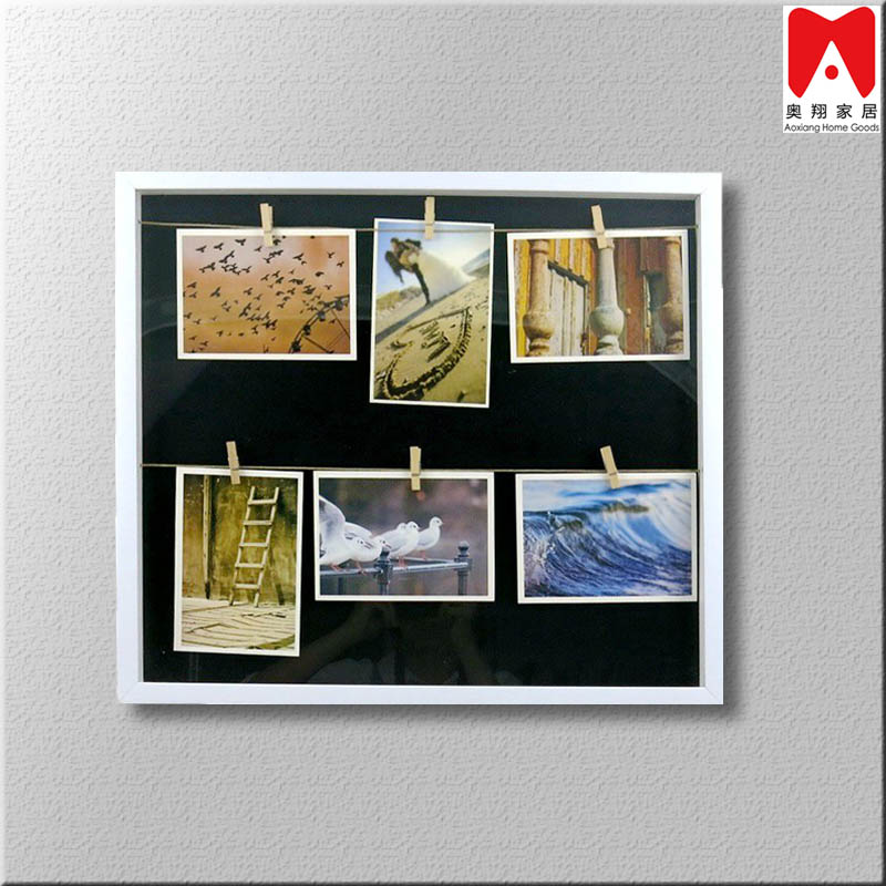 PS1150 Two Parallel Straw Line black backing Photo Frame