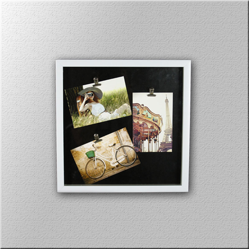 PS1071 Triple Clips white photo frame